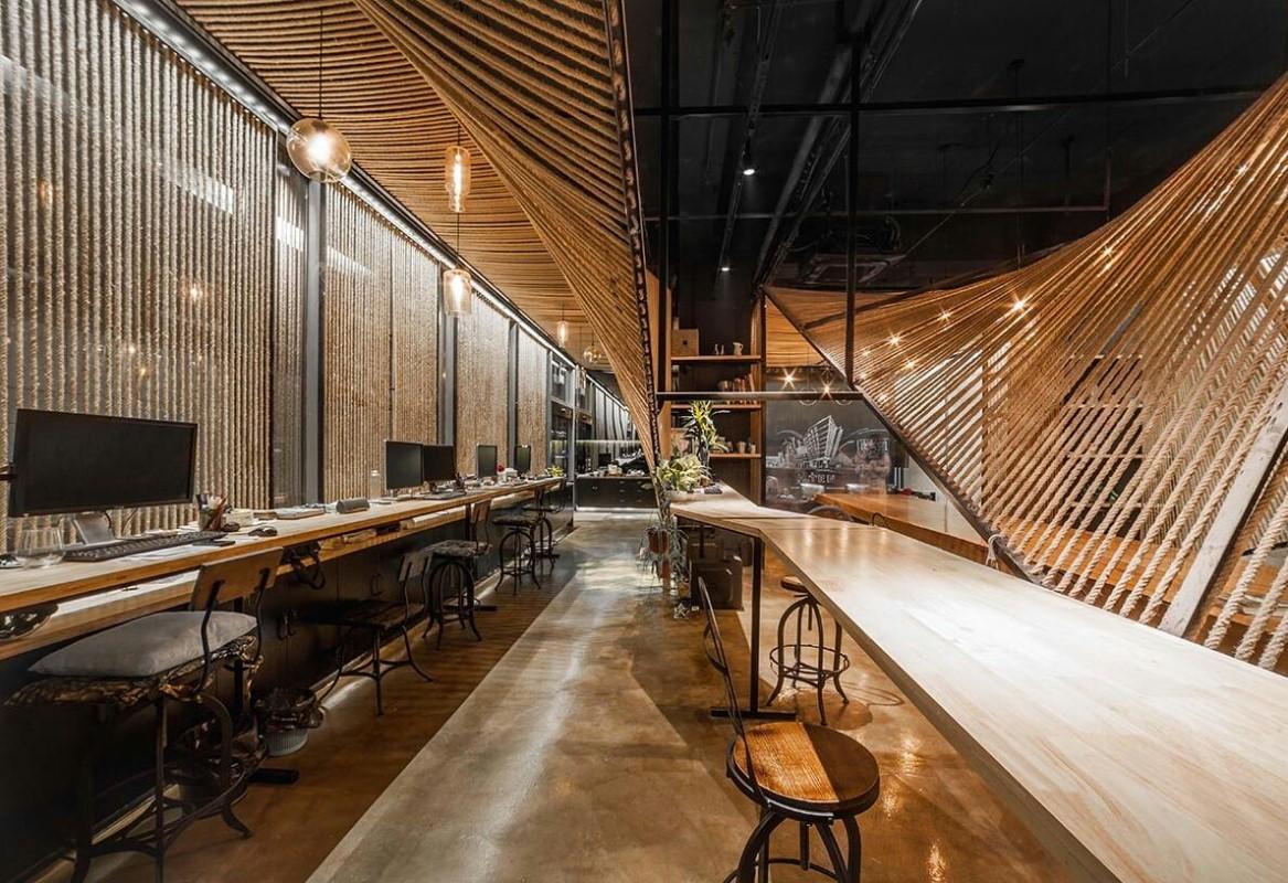 商业空间设计-创意共享办公室si设计-店铺设计图片
